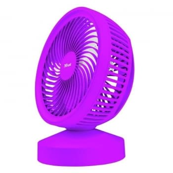 VENTILADOR USB TRUST VENTU PURPLE- 7 ASPAS - ALIMENTACIÓN USB - ASA DE TRANSPORTE - INTERRUPTOR ON/OFF