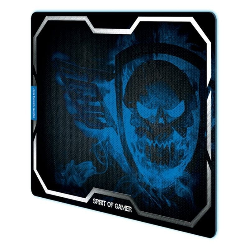 ALFOMBRILLA SPIRIT OF GAMER BLUE SMOKEY SKULL XL - 43.5*32.3CM - TEXTURA ULTRAFINA - BASE ANTIDESLIZANTE -