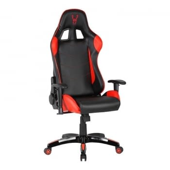 SILLA GAMER WOXTER STINGER STATION RED - PISTON CLASE 4 - EJE DE ACERO - REPOSABRAZOS 2D - COJINES LUMBAR/CERVICAL - HASTA 140KG