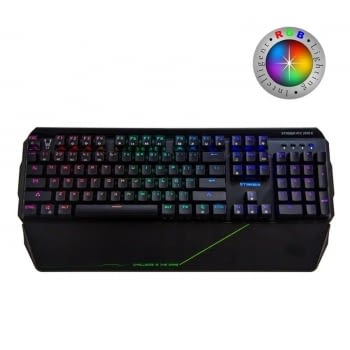 TECLADO MECÁNICO GAMING WOXTER STINGER RX 2000 K - 104 TECLAS ANTIGHOST - SWITCHES BYK816 -  RETROILUMINACION LED RGB - CABLE 1.8M