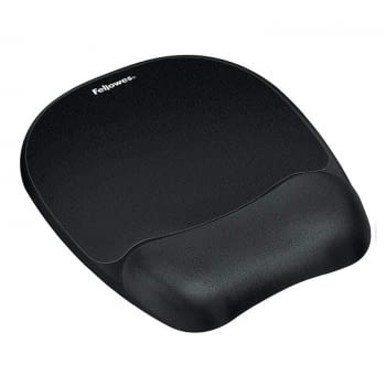 ALFOMBRILLA REPOSAMUÑECAS DE ESPUMA MEMORY FOAM FELLOWES 9176501 - COLOR NEGRO