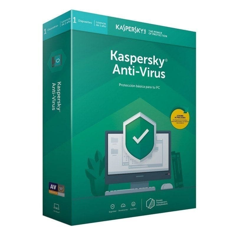 ANTIVIRUS KASPERSKY 2020 - 1 DISPOSITIVO - 1 AÑO - NO CD -