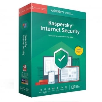 ANTIVIRUS KASPERSKY INTERNET SECURITY 2020 - 1 DISPOSITIVO - 1 AÑO - NO CD