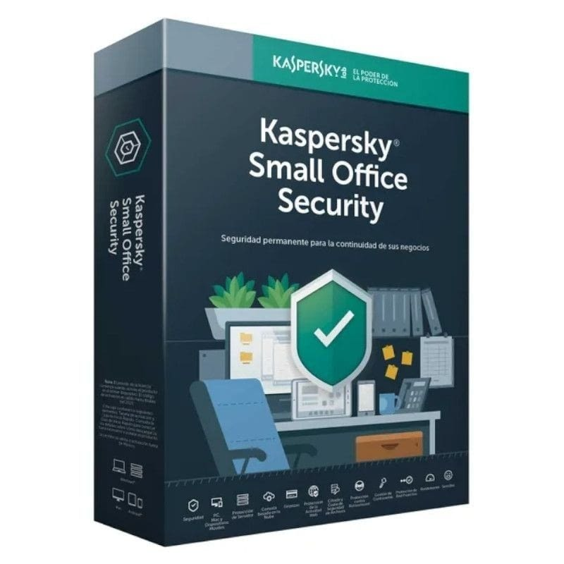 ANTIVIRUS KASPERSKY SMALL OFFICE SECURITY 7 - 10 DISPOSITIVOS / 1 SERVIDOR - 1 AÑO - NO CD -