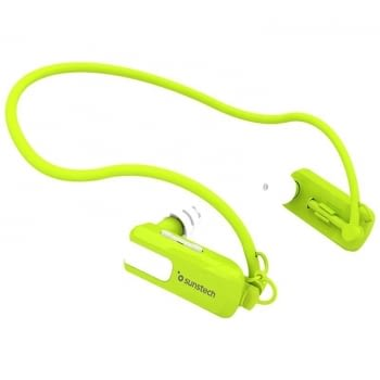 REPRODUCTOR MP3 SUNSTECH TRITÓN GREEN 8GB - WATERPROOF SUMERGIBLE HASTA 3 METROS - BAT 180MAH - DISEÑO ERGONÓMICO