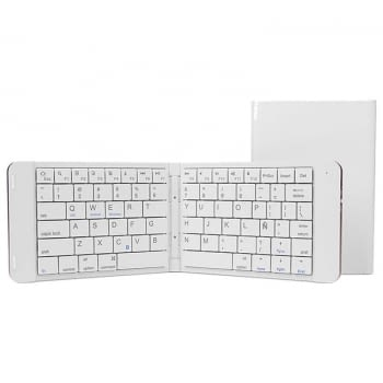TECLADO MINI BLUETOOTH LEOTEC LERK04W BLANCO - PLEGABLE - 80 TECLAS - BATERÍA 90mAh - ABS Y ALUMINIO - COMPATIBLE WINDOWS / iOS / ANDROID