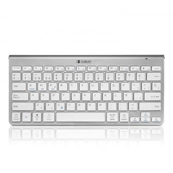 TECLADO BLUETOOTH SUBBLIM 2PUC100 PURE COMPACT SILVER - BT 3.0 - 78 TECLAS - COMPATIBLE CON APPLE/ANDROID/WINDOWS - INCLUYE BATERÍA LITIO/CARGA USB