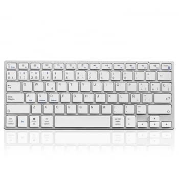 TECLADO BLUETOOTH SUBBLIM 3ADC200 ADVANCE COMPACT SILVER - BT 3.0 - 78 TECLAS - BAT.350MAH - COMPATIBLE CON APPLE/ANDROID/WINDOWS - INCLUYE CARGA USB