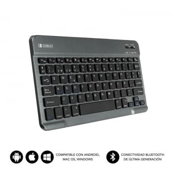 TECLADO BLUETOOTH SUBBLIM SM0002 SMART BT GREY - BT 3.0 - SOFT TOUCH - BATERIA 420MAH - COMPATIBLE MULTIDISPOSITIVO