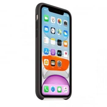 FUNDA APPLE IPHONE 11 SILICONE CASE - NEGRA- - 2