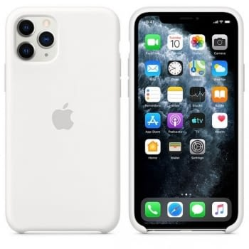 FUNDA APPLE IPHONE 11 PRO SILICONE CASE - BLANCA - 2
