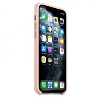 FUNDA APPLE IPHONE 11 PRO SILICONE CASE - ROSA ARENA - 3