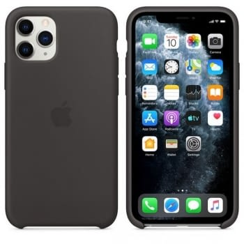 FUNDA APPLE IPHONE 11 PRO SILICONE CASE - NEGRA - 2