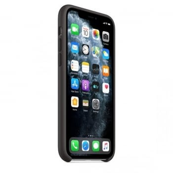 FUNDA APPLE IPHONE 11 PRO SILICONE CASE - NEGRA - 3