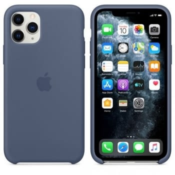 FUNDA APPLE IPHONE 11 PRO MAX SILICONE CASE - AZUL ALASKA - 3
