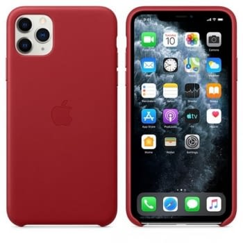 FUNDA APPLE IPHONE 11 PRO MAX LEATHER CASE -  PRODUCT RED - 4