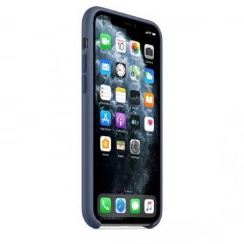 FUNDA APPLE IPHONE 11 PRO MAX LEATHER CASE - AZUL MEDIANOCHE - 3