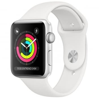 APPLE WATCH SERIES 3 GPS 42mm CAJA ALUMINIO PLATA CON CORREA DEPORTIVA BLANCA