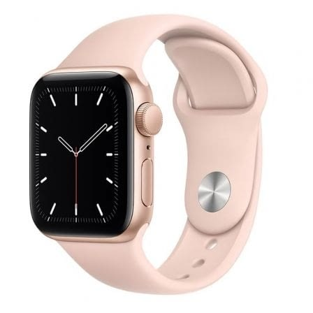 APPLE WATCH SE 44MM GPS CAJA ALUMINIO ORO CON CORREA ROSA ARENA SPORT BAND -