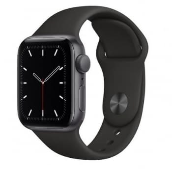 APPLE WATCH SE 44MM GPS CAJA ALUMINIO GRIS ESPACIAL CON CORREA NEGRA SPORT BAND