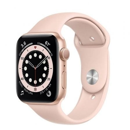 APPLE WATCH S6 44MM GPS CAJA ALUMINIO ORO CON CORREA ROSA ARENA SPORT BAND -