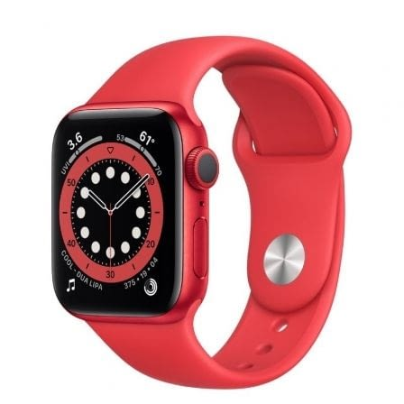 APPLE WATCH S6 40MM GPS CELLULAR CAJA ALUMINIO ROJA CON CORREA ROJA SPORT BAND -