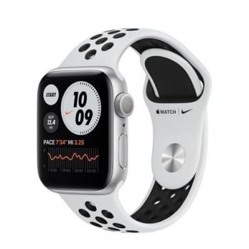 APPLE WATCH S6 44MM GPS CELLULAR NIKE CAJA ALUMINIO CON CORREA PLATINO PURO Y NEGRO NIKE SPORT BAND