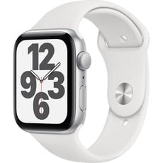 APPLE WATCH SE 44MM GPS CAJA ALUMINIO PLATA CON CORREA BLANCA SPORT BAND
