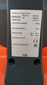 APILADOR ELECTRICO NUEVO TOYOTA SWE140 - 5