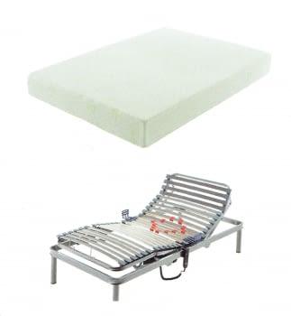 Pack somier articulado + colchón + almohada (90x190)
