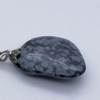Snowy obsidian necklace