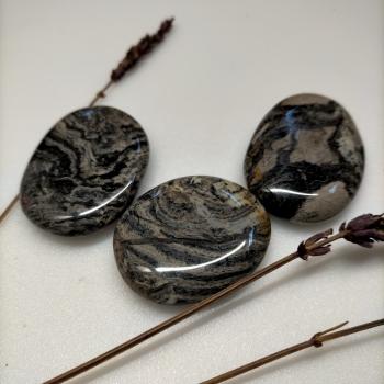 Còdol de jaspí full de plata