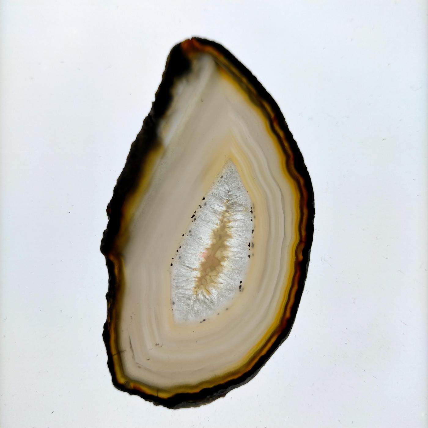 Àgata laminada marrón translúcida -