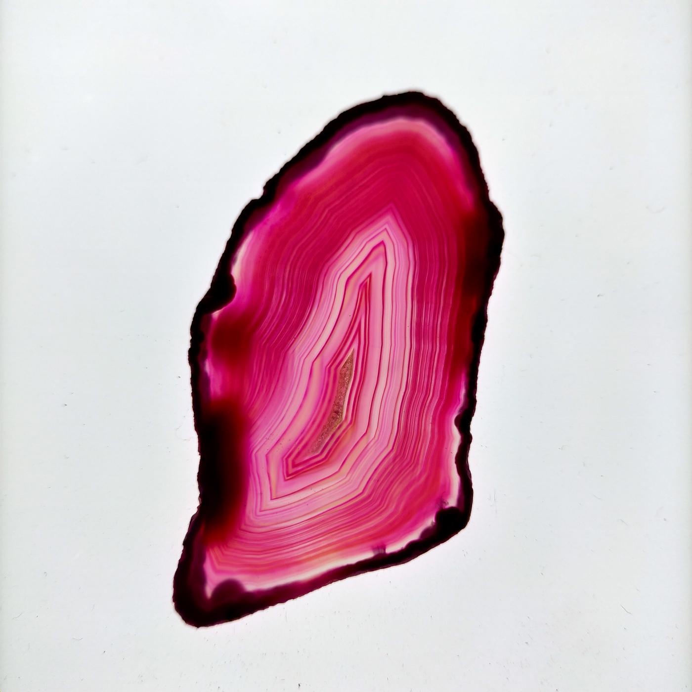 Ágata laminada rosa intenso -