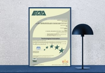 We have obtained the Technological Innovation certificate!