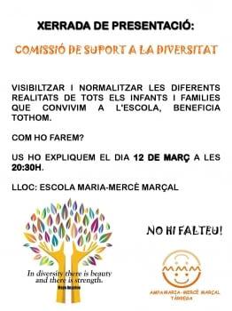 XERRADA DE PRESENTACIÓ: COMISSIÓ DE SUPORT A LA DIVERSITAT