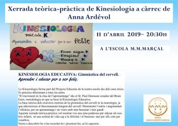 XERRADA TEÒRICA-PRÀCTICA DE KINESIOLOGIA A CÀRREC D'ANNA ARDÉVOL