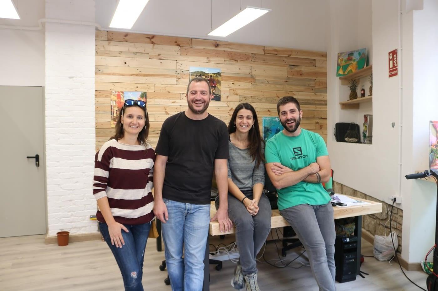 Equip gestor de Quàlia: Klara López, Lluís Nadal, Ester Pujol i Toni Domingo