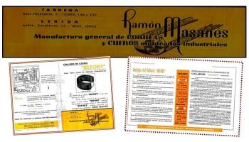 1923.Premier atélier Masanés pour fabrication de courroies de cuir