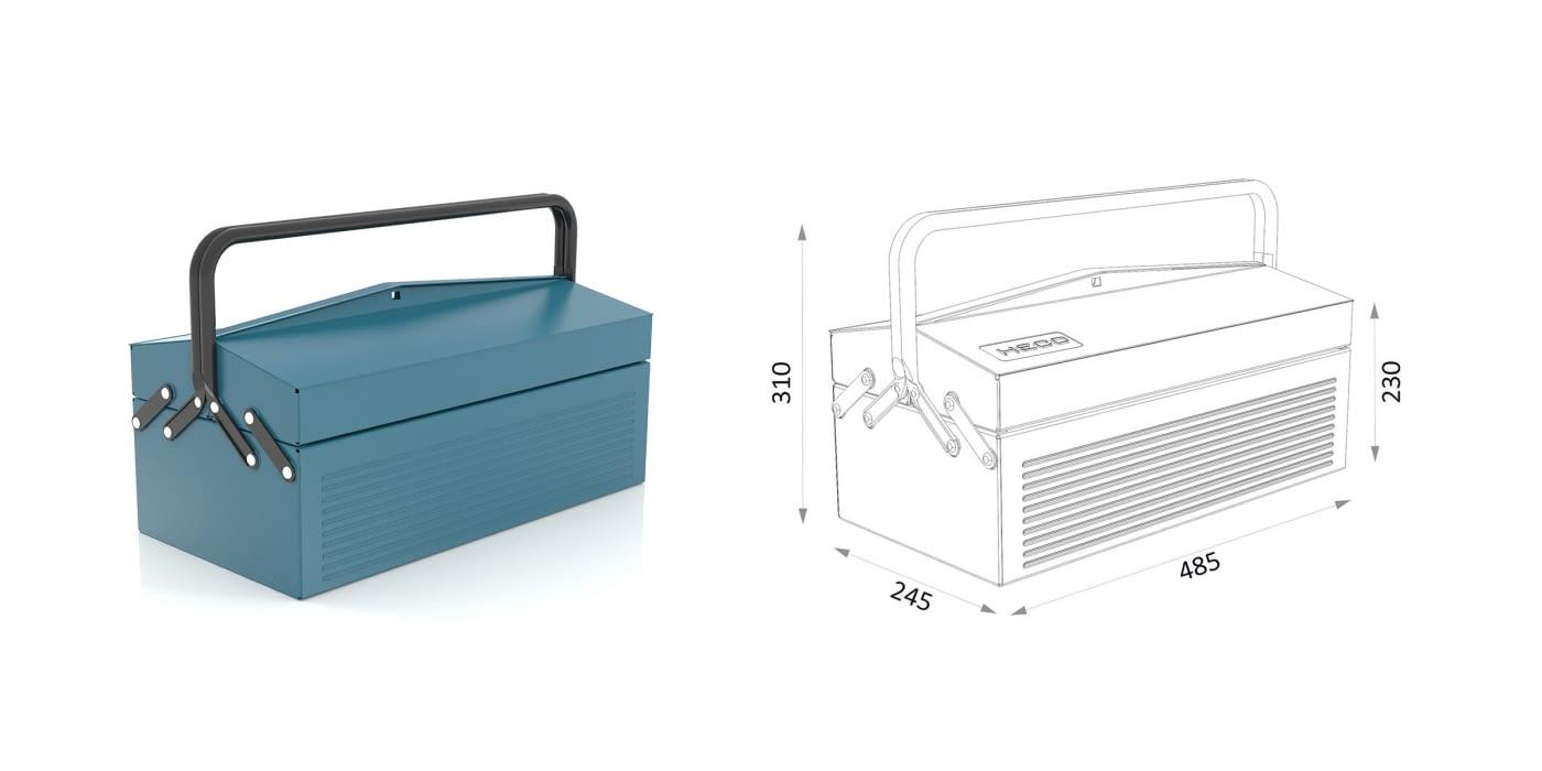 Caja metálica para herramientas -