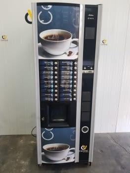 MAQUINA VENDING NECTA ASTRO DE CAFE EN GRANO VINILADA Y RESTAURADA