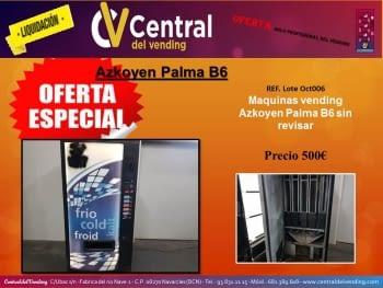 ¡¡LIQUIDACIÓN!! MAQUINAS VENDING BEBIDAS AZKOYEN PALMA B6 (PROFESIONAL DEL VENDING)