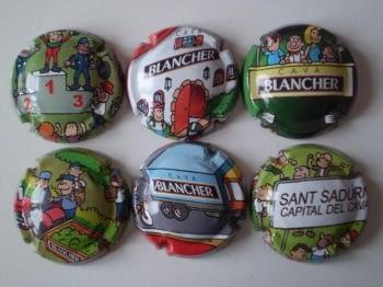 BLANCHER JUEGO 6 PLACAS V. 1984 A 1989