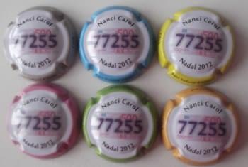 NANCI CAROL JUEGO 6 PLACAS V. 27050 A 27055 (LOTERIA)