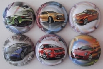 MAGUST JUEGO 6 PLACAS V. 28048 A 28053 (COCHES)