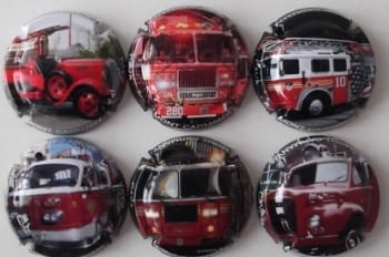MONT CARMANY JUEGO 6 PLACAS X. 55171-55549-555450-55403-56142-56383 (COCHES BOMBEROS)