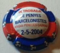 PIRULA CONMEMORATIVES X. 08112 IX TROBADA DE PENYES BARCELONISTES