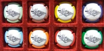 EL CELLER DE LA BRASA JUEGO 8 PLACAS V. 12241 A 12247, 12718