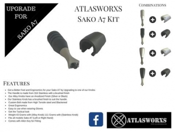 ATLASWORXS BOLT HANDLE / SHROUD KIT - SAKO A7 - 8