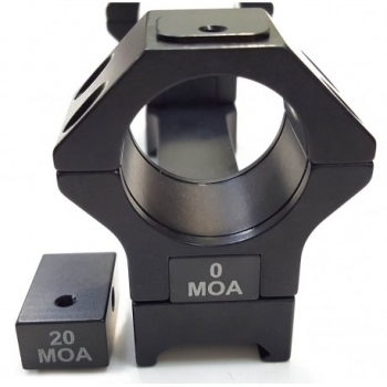 Montura APEL Táctica Black-line 20 MOA para Picatinny - 30mm. - 2